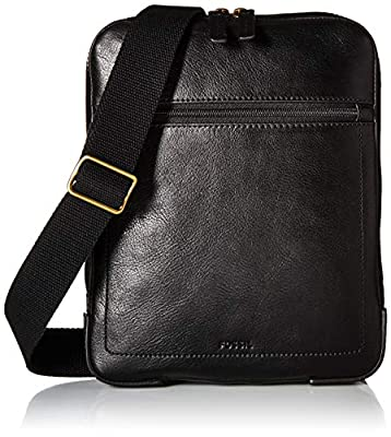 Fossil Men's Haskell Courier, Black, One Size