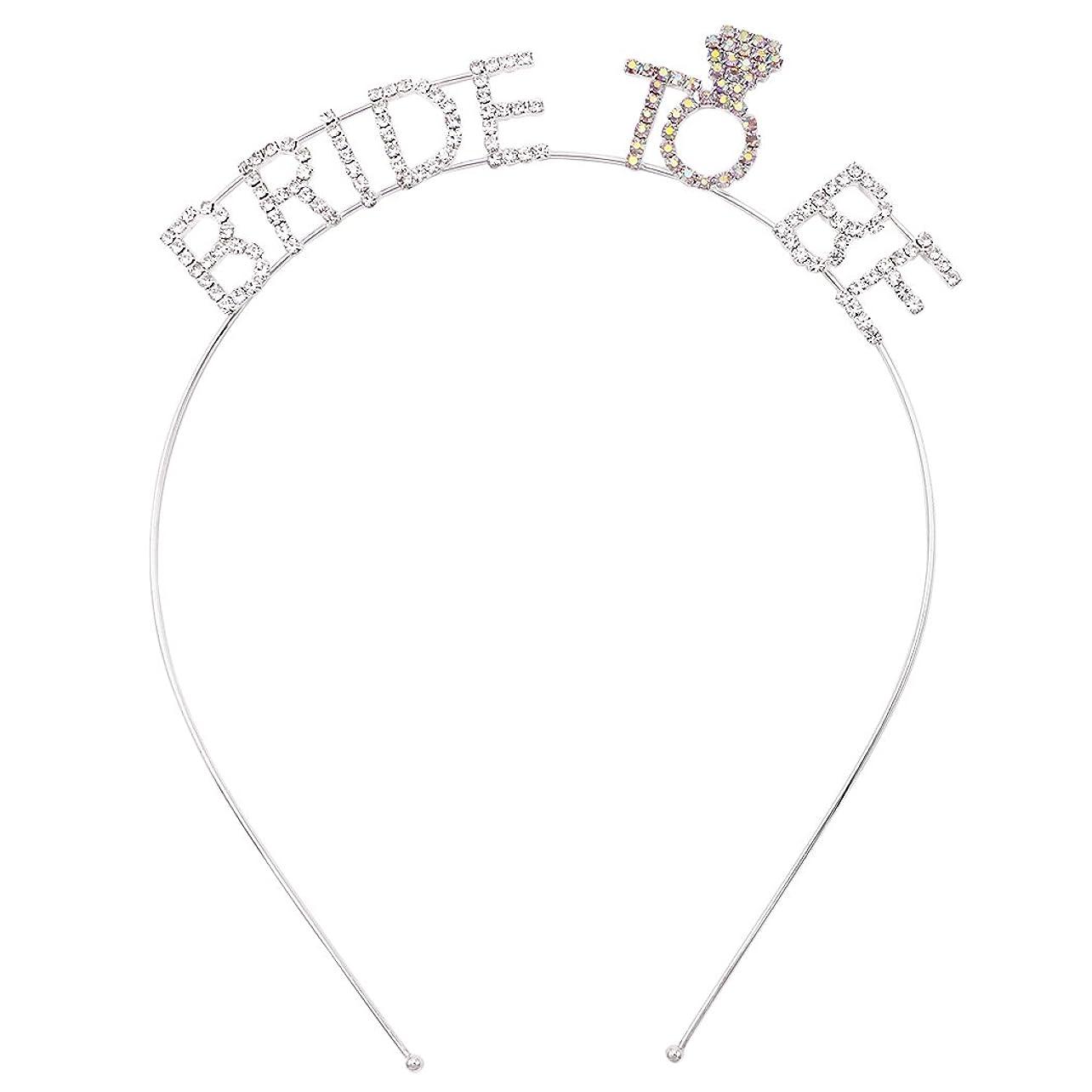 囲まれたピストンしなやかなRosemarie Collections レディース Bride to Be 独身最後のパーティー ティアラ ヘッドバンド
