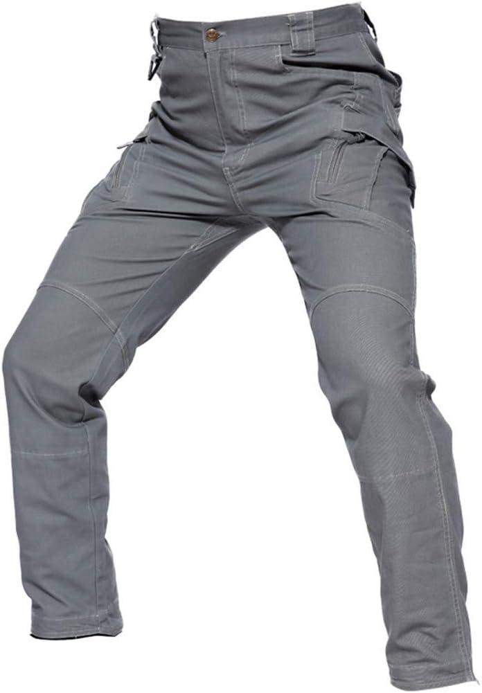 Pantalon Cargo Tactique Militaire Hommes Forces spéciales Pantalon d'armée de Combat Spandex Poches Extensibles Pantalon en Coton Gray