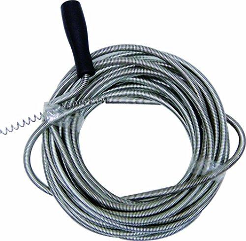 Rohrreinigunsspirale 3 m x Ø 5mm | Entfernung von hartnäckigen Verstopfungen im Abfluss inkl. drehbarer Griff | flexible Rohrreinigungswelle