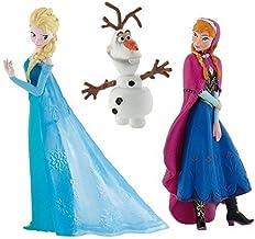 Official Disney's Frozen Set of 3 Figures, Anna, Elsa and Olaf by Disneys Frozen