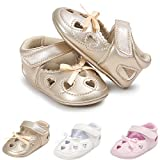 Infant Baby Girl Shoes Soft Sole Baby Mary Jane Flats Shoes Bowknots Princess Wedding Dress Shoes Newborn Crib Shoes