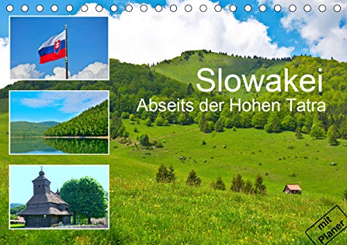 Slowakei - Abseits der Hohen Tatra (Tischkalender 2021 DIN A5 quer)