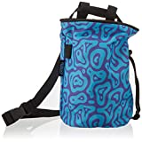 Hueco Chalk Bag with Belt and Zipper Smartphone Pocket for Rock Climbing, Bouldering, Gymnastics, Fitness, Cross Fit and Weightlifting (Blue/Purple Wave)