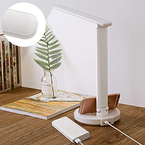 RENOOK White LED Desk Lamp, Eye-Caring Table...