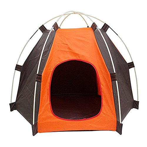 Lifeunion Portable Folding Dog House Sun Beach Tent for Indoor,Outdoor Waterproof Pet Tent Dog Bed Crate for Summer Small Size Dogs and Cats