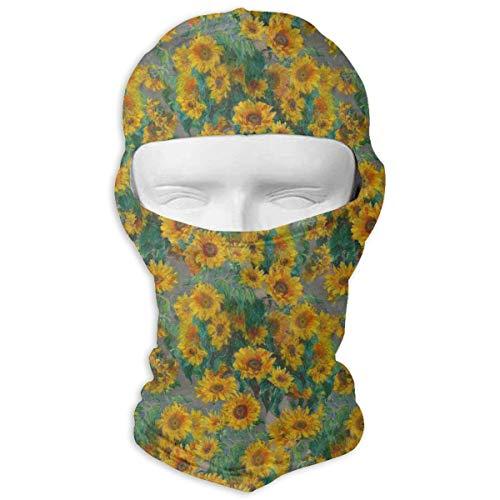 Monets Sunflowers Full Face Mask Sun Dust Wind Protection Durable Breathable Seamless Face Mask Bandana