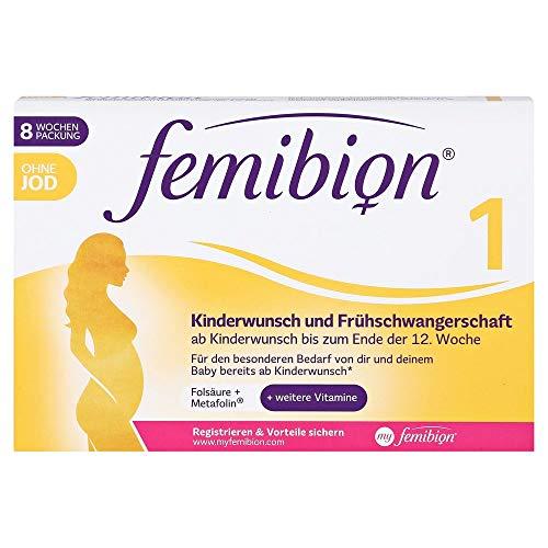 Femibion 1 Kinderwunsch und Frühschwangerschaft ohne Jod Tabletten, 60 St. Tabletten