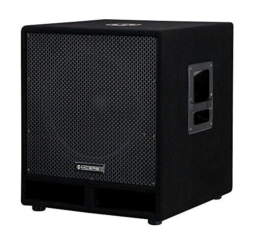 """McGrey PAS-115 15\"""" passiver DJ PA Subwoofer (Bass Box, 300/600/1200 Watt RMS/Musikleistung/Peak, Bassreflex-Kanäle, 15\"""" Woofer, SPK-Anschlüsse) schwarz"""