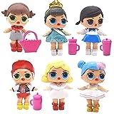 LOL Cake Topper, 6 Piezas LOL Surprise Girl Doll Pastel Decoración Suministros Surprise Doll Figures...