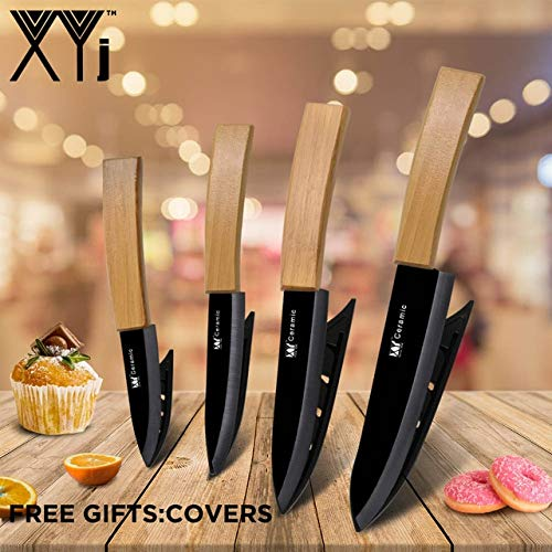 Best Quality Meat Chef Knives Zirconium Oxide Ceramic Kitchen Knife Sets Cook Chef's Knife Utral Sharp Blade Bamboo Handle