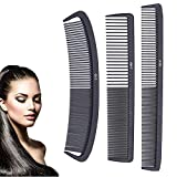 Juego de 3 peines de peluquería, peines profesionales para peluquería, juego de peines...