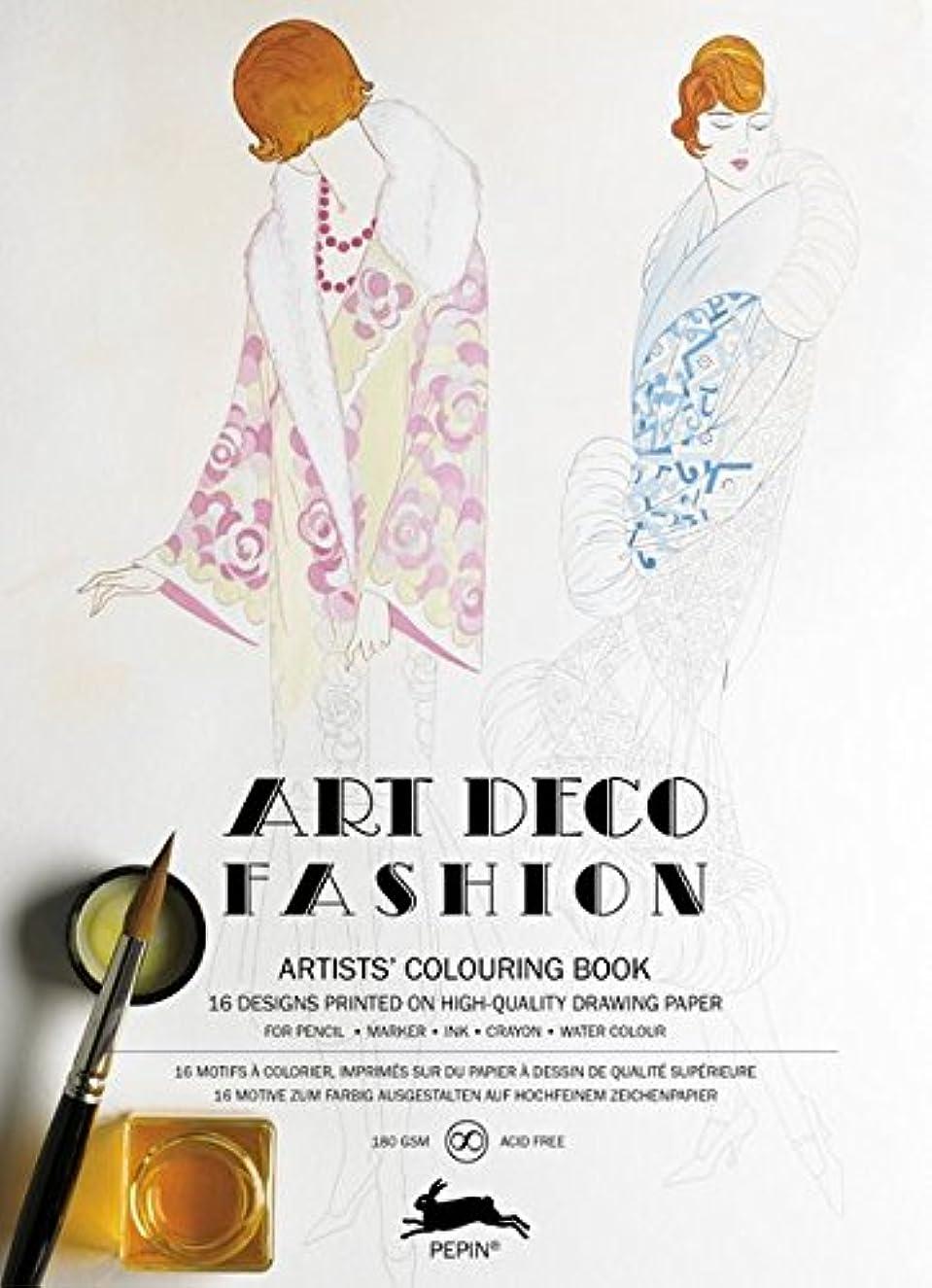 Pepin Press Pepin Press Art Deco Fashion : ARTISTS'COLOURING Book (98079)