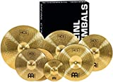 "Meinl Cymbals Super Set Box Pack with 14"" Hihats, 20"" Ride, 16"" Crash, 18"" Crash, 16"" China, and a 10"" Splash – HCS..."