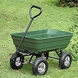 Garden Carts Landscape Dump Wagon Cart Lawn Utility Cart Heavy Duty Steel Outdoor Beach Lawn Yard Buggy