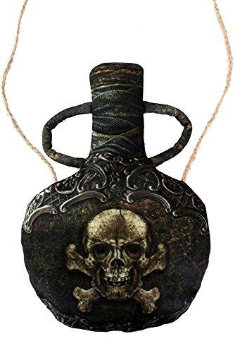 shoperama Kleine Umhängetasche Flasche für Pirat oder Piratin Handtasche Tasche Kostüm-Zubehör