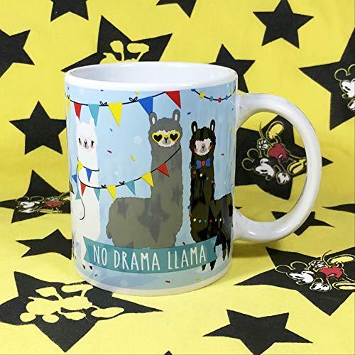 ins net rode Cartoon Leuke god Beest Alpaca modder Paard Meng Mark Cup van Koffie Water Cup