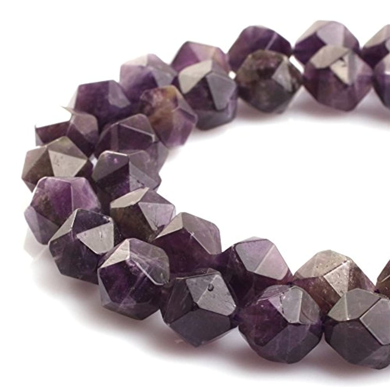 Amethyst Beads for Jewelry Making Natural Gemstone Semi Precious 10mm Faceted 15