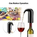JIASHU Decantador de Vino eléctrico, Bomba dispensadora de aireador instantáneo USB de un Toque automático Recargable para Vino Tinto y Blanco Recargable