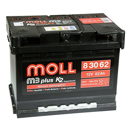 Moll M3 Plus K2 83062 12V 62Ah