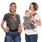 YOU+ME Ergonomic Baby Carrier and Baby Wrap Ergo Sling by Sleepy Wrap Bundle
