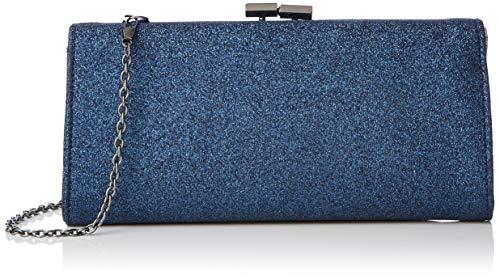Lotus Vibe, Damen Clutch, Blau (Navy), 4x11x23 cm (W x H L)
