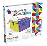 """Magna Tiles Storage Bin & Interactive Play-Mat, Collapsible Storage Bin with Handles for Playroom, Closet, Bedroom, Home Organization and Classroom, 12.5 x 11 x 8"""" Bin (20200)"""