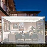 ZXXL Persiana Enrollables Bambú 80cm / 100cm / 120cm / 140cm de Ancho Persianas Enrollables Transparentes, para Exterior/Gazebo/Balcón/Patio/Terraza, Aislamiento Resistente al Polvo Resistente a la