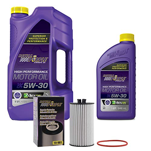 Price comparison product image Royal Purple SAE 5W-30 Synthetic Motor Oil 6 quarts and a 10-981 Extended Life Premium Oil Filter (9815W306QT)