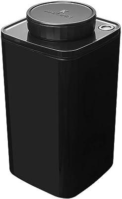 ANKOMN ダイアル式真空保存容器ターンシール ブラック遮光 キャニスター (1.2L) コーヒー豆 約300~400g コーヒー粉 約200g 真空・密閉・密封