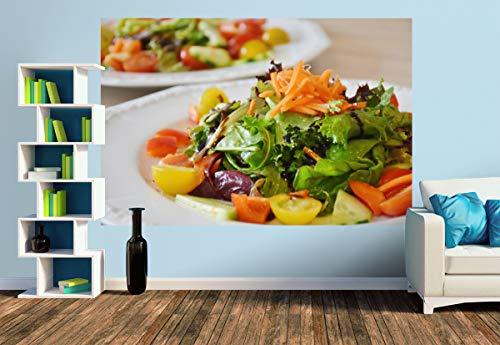 Premium Foto-Tapete Ein bunter Salatteller (versch. Größen) (Size M | 279 x 186 cm) Design-Tapete, Wand-Tapete, Wand-Dekoration, Photo-Tapete, Markenqualität von ERFURT