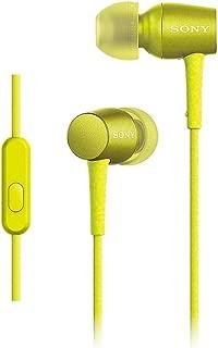 ソニー SONY イヤホン h.ear in MDR-EX750AP : ハイレゾ対応 カナル型 リモコン・マイク付き ライムイエロー MDR-EX750AP Y