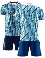 Voetbaltrui, 20-21 Ajax Uit Voetbalshirts, Team Trainingspak Jerseys, Volwassen Kinderen Trainingspak Sportkleding T-Shirt + Shorts