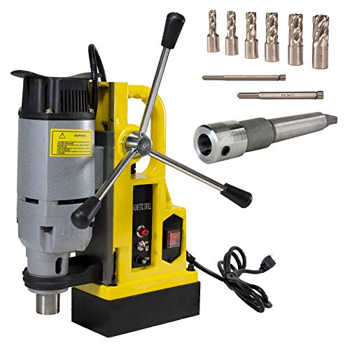 For Sale! Steel Dragon Tools MD25 1in. Magnetic Drill Press and 7 Piece Small Diameter 1in. Cut Dept...
