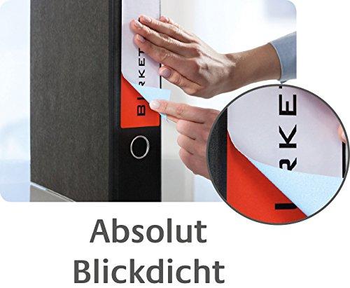 Avery Zweckform L4761-100 Ordnerrücken Etiketten (A4, 400 Rückenschilder, breit/kurz, selbstklebend, blickdicht, 61 x 192 mm) 100 Blatt weiß - 9