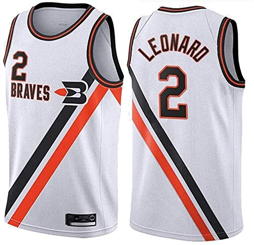 llp Cajeras de Camiseta de Baloncesto para Hombres No. 2 Leonard All Star Bordado Camisa Bordado Classic Bordados Vestidos sin Mangas (Color : 4, Size : X-Large)