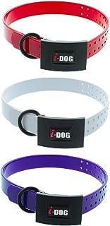 i-Dog Pack 3 Colliers Premium larg 2.5cm x Long 65cm x epaisseur 0,4cm, Boucle, 3 Coloris (Rouge, Blanc, Violet)