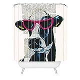 Deny Designs Coco de Paris Duschvorhang Jetset Kuh, 175,3 x 182,9 cm