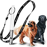 8. Dog Whistle with Free Lanyard, Adjustable Frequencies Ultrasonic Stainless Steel, Effective Way of Training, Dog Whistles to Stop Barking (New-White)
