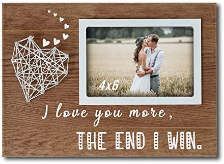 Buecasa Romantic Gifts for Boyfriend and Girlfriend Couples Wedding Picture Frames with String product image