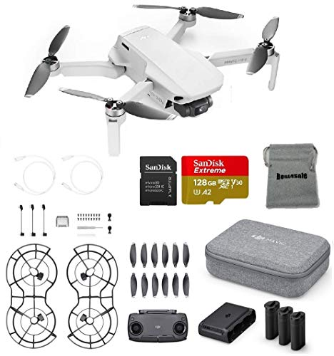 DJI Mavic Mini Fly More Combo Drone FlyCam Quadcopter Bundle with SD Card and More