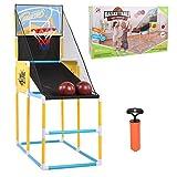 Juego de bastidor de baloncesto para niños: tablero de baloncesto de plástico para deportes al aire libre en interiores, máquina de tiro vertical, bastidor de entrenamiento de aro de práctica para niñ