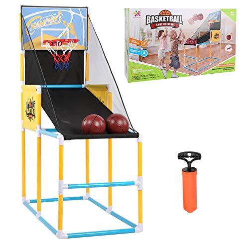 DAUERHAFT Tablero de Baloncesto de plástico para Deportes de Interior al Aire Libre, Conveniente máquina de Tiro Vertical, Juguete para Entrenamiento de aro de práctica para niños