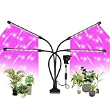 FUJIWAY LED Plant Light, 80 LEDs Full Spectrum LED Plant Grow Light for Indoor Plants, 4 Heads Grow Lamp with...