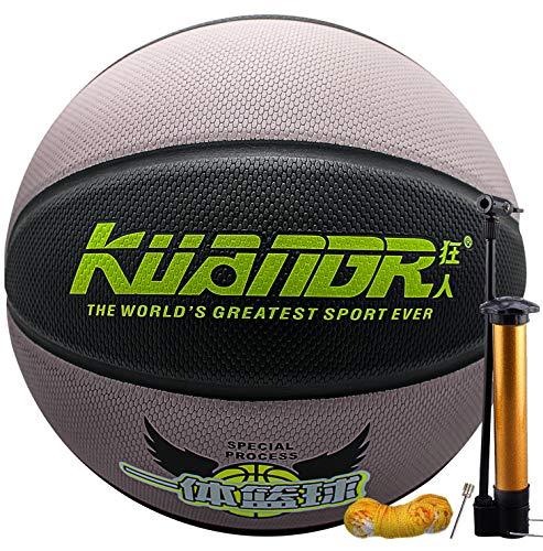 cwin Basketball Größe 7 mit Pumpe Indoor Outdoor Junior Kinder Kinder Jugend Basketball Spiel Street PU Leder Basketball mit 3 Zubehör