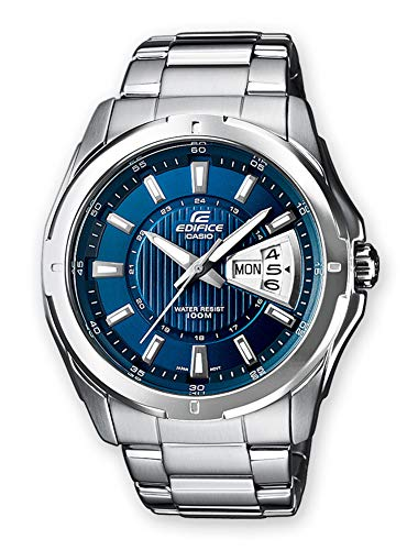 Casio Edifice Herren Massives Edelstahlgehäuse und Edelstahlarmband Uhrenarmband EF-129D-2AVEF