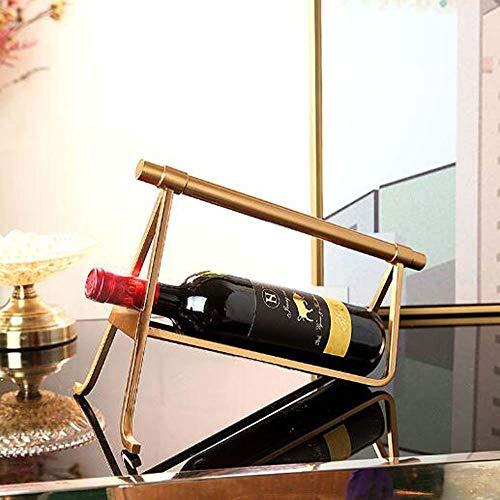 DKee decoraciones para el hogar Estilo Europeo Estante de Vino Adornos Luz Dorada Modelo de Lujo Habitación Restaurante Mesa Enfriador de Vino Sala de estar Decoración Suave