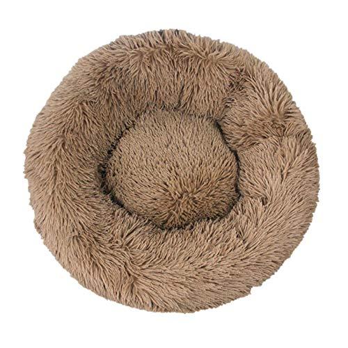 WXDC Camas redondas largas de felpa para perros grandes productos de mascotas cojín super suave esponjoso cómodo felpa, accesorios