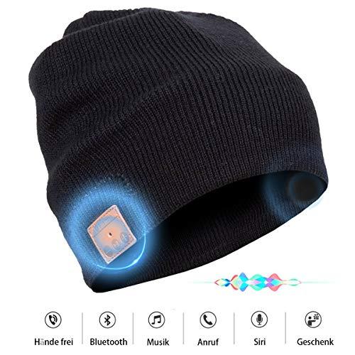 Bluetooth Beanie Mütze mit Stereo Lautsprechern Unisex Musik Strick-Mütze Bluetooth...