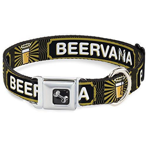 Buckle Down dc-w32885-wm Sicherheitsgurt für Hunde, mittelgroß, Bier, Gläser/Beervana-/Wellen, Schwarz/Oliv